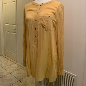 Free people light yellow blouse